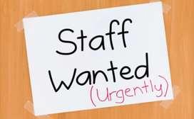 Need staff, cook, samosha, sweet,