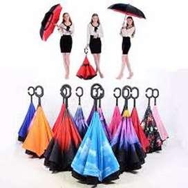 Payung Terbalik Reverse Kazbrella Gagang C