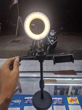 Ready LED TRIPOD RING LIGHT SELFIE MAKE UP TIKTOK AND YOUTUBER