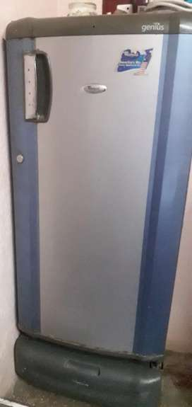 Whirlpool refrigerator- blue and silver color