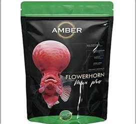 amber flowerhorn fish food (original)