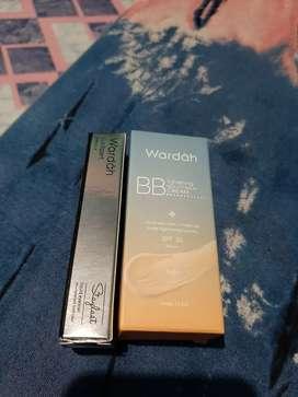 BB cream wardah dan liquid eyeliner wardah