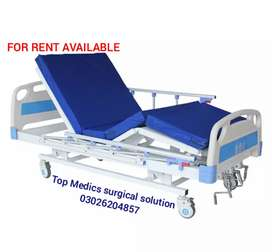 Manual patient Bed & Electric Bed Rent per available