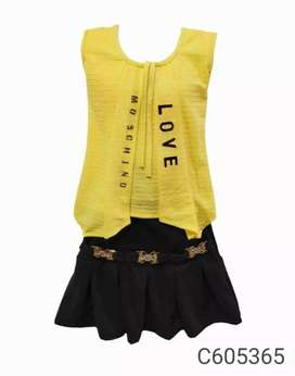 Girls party wear top and skits
