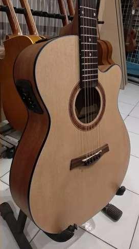 Gitar akustik elektrik Camwood IWC235NA preamp Yamaha