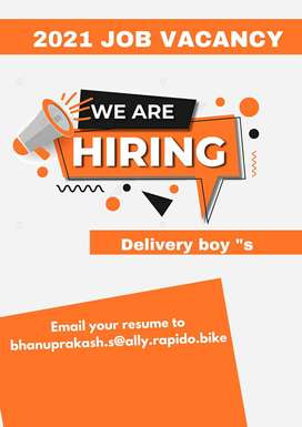 Urgent requirements for delivery boys