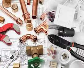 Electrical plumbing works are done hare