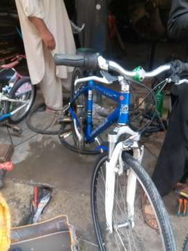this is japan cycle alminum frame front me shock hai
