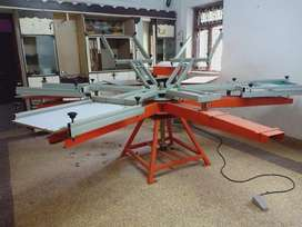 Screen printing machine  6 beds