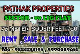 Rent start 8.5  to 10 k (top floor to ground) Lig flat 1bhk with