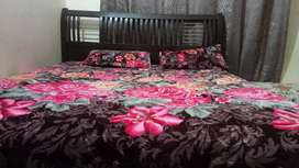 Double bed solid wood