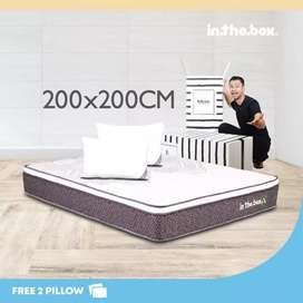 IntheBox - Kasur Spring Bed Inthebox X(Super King)200x200 x 27Cm Putih