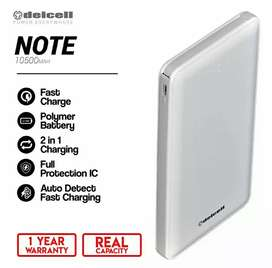 Delcell Powerbank NOTE SLIM Real Capacity 10500 mAh
