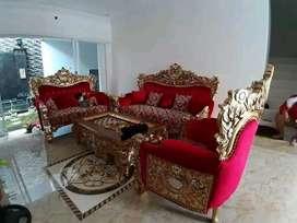 Sofa tamu Bellagio rangka sofa kayu jati