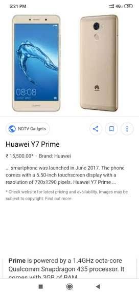 Huawei honor y7 prime