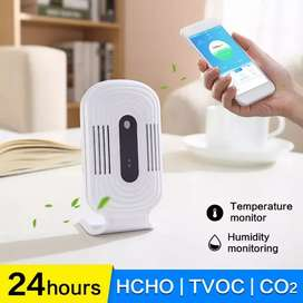 LCD Intelligent WIFI Home Smog Meter CO2 HCHO TVOC Air Quality Analy