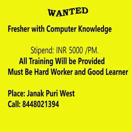 Fresher with Computer Skills