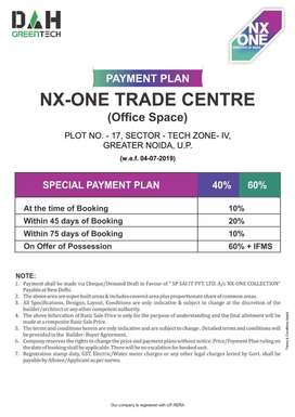 NX ONE TRADE CENTER OFFICE SPACES STARTING 15 LACS