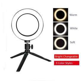 Ring Light 16cm For Selfie Vlogger and Livestreaming plus Tripod