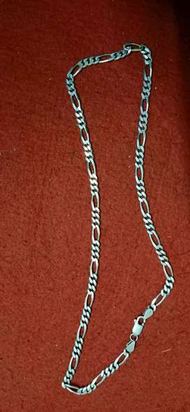Men silver chain used