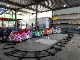 kereta lantai mini coaster odong rel bawah dobel dudukan muat banyak