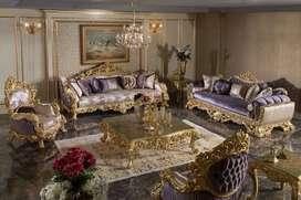Set Sofa Tamu Ukiran Klasic Terbaru