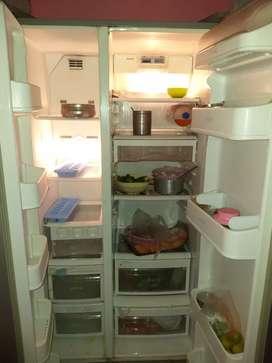 Side by side LG refrigerator