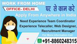 Urgent Need Calling Staff in all over jharkhand Work from home