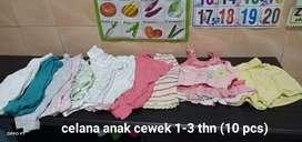 Celana anak cewek 1-3 thn (10 pcs)