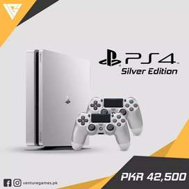Ps4 Slim 500 GB(Silver limited edition)