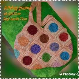 Tas Rajut Granny tottebag crochet
