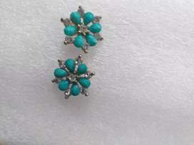Blue earrings perfect for suit and tops