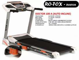 Doctor 100A - Motorized Treadmill with Auto Incline - 3.75 HP - Grey