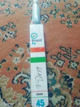 Bat rohit sharma autograph