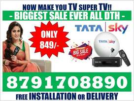 Tata sky New HD box 1 Month free Full installation complete delivery