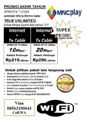 Jasa pasang wifi internet unlimited promo gila gilaan mnc play media