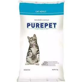 1 kg pure cat food