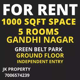 1000sqft+ space in Gandhi Nagar Green Belt park