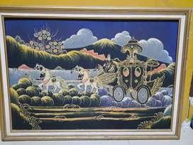 Jual lukisan kereta kencana jogja keraton