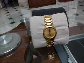 RadoFLORENCE Date Quartz Gold Electroplated & Stainless Steel.,.