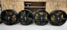 15 Inch - 4 Hole Alloy Wheels (Mag Wheels) Used for 6 Months