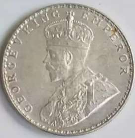 Indian Old Coin Silvergold George V King Emperor 1919(1 Rupee).