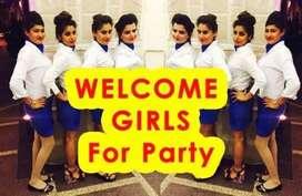 Events ke lia girls chaiye.