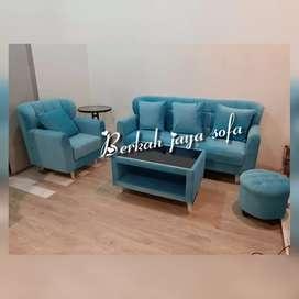 sofa retro biru