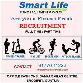 We Are Hiring Fitness Trainer, Cyclist, Sports Men & Physical Trainer