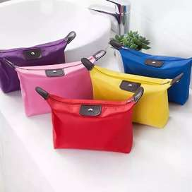 Pouch dompet makeup warna polos import