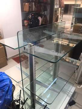 Glass retail stand