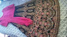 Very elegant one time used velvet lehenga