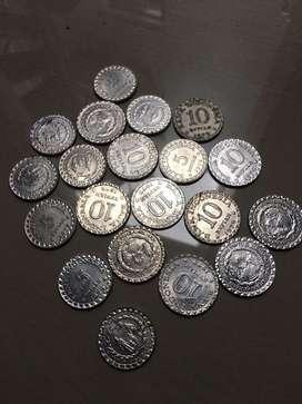Uang koin 5,10 rupiah 1979