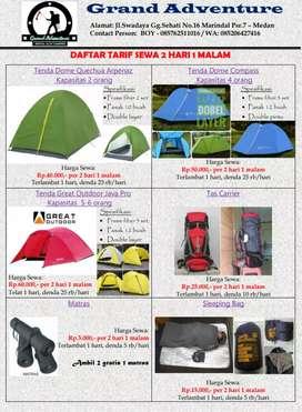Rental Alat Camping di Medan